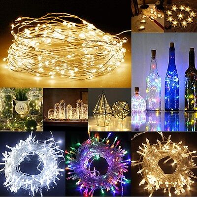LED Battery Electric Powered Micro Fairy String Lights Party Christmas Decor UK