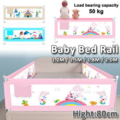 180cm Kids Bed Guard Toddler Safety Children Bedguard Baby Folding Metal Rail