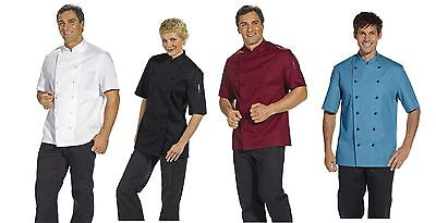 Leiber 12/1094 Men's Ladies Chef Jacket Bakers short Sleeve Burgundy