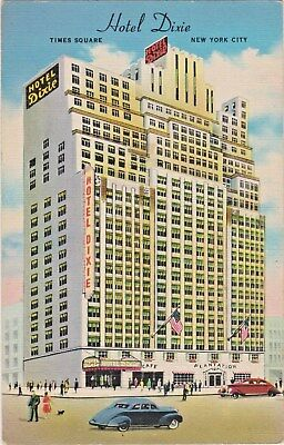 Hotel Dixie, Time Square, New York City on 43rd Street West of Broadway in 1940s