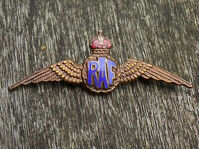 VINTAGE WW2 ROYAL AIR FORCE Enamel RAF 'Wings' Sweetheart Badge Brooch by  Miller