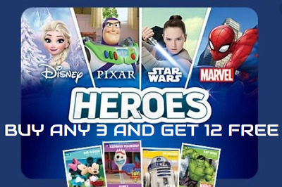 Sainsburys Heroes Cards Disney Pixar Star Wars Marvel  Buy 4 Get 10 Free New