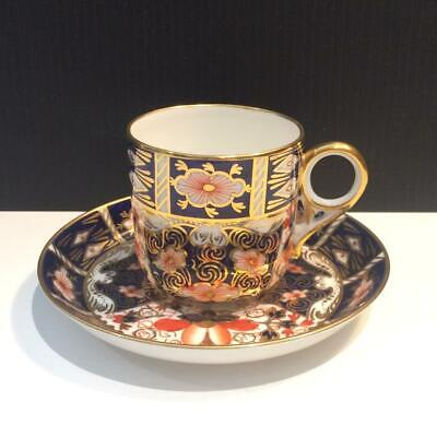 7 Royal Crown Derby Traditional Imari 2451 Flat Demitasse Cup & Saucers Ch5563