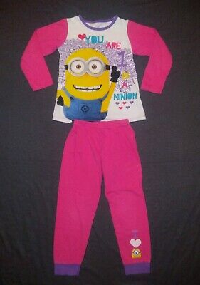 Dunnes | Girls Despicable Me Pyjamas | Kids Size 5-6 Years