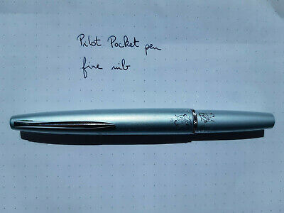 Pilot pocket fountain pen with flowers. Fine nib