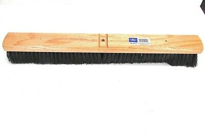 "Nos! Magnolia 24"" Heavy Duty Floor Broom Medium Black Poly 3"" Bristles #2024-A"