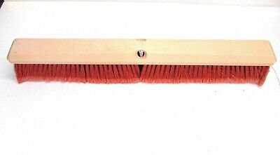 "Nos! Magnolia 24"" Floor Brush Red Flag Plastic 3"" Bristles #13424"