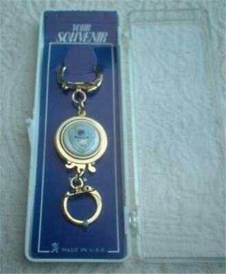 VINTAGE MASSACHUSETTS PILGRIM PURITAN SOUVENIR KEY HOLDER w ORIG DISPLAY BOX