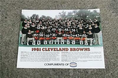 1981 Cleveland Browns Football Team Photo Sohio Poster ~Ozzie Newsome Brian Sipe