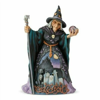 Jim Shore 2019 HALLOWEEN EVIL WITCH WITH CRYSTAL BALL 6004326 CAST YOUR EYES