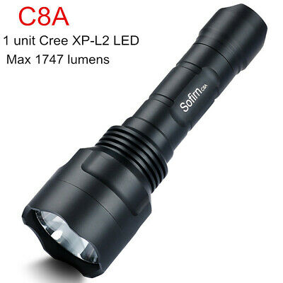 Sofirn C8A LED Flashlight 1747 Lumens Powerful CREE XPL2 Torch Use 18650 Battery