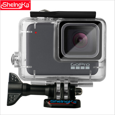 Waterproof Housing Case For Gopro HERO 7 Silver / White Protective Shell Bracket