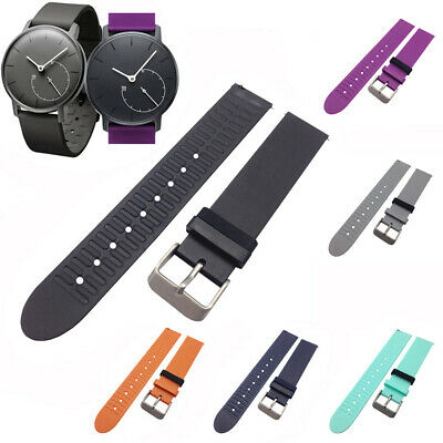 Silicone Watch Band Wristband Strap Solid Sport Soft For Withings Activite Steel