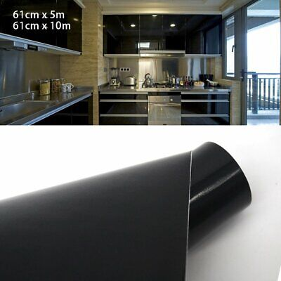 Wall Sticker Gloss White Black Film Vinyl Self Adhesive Covering Roll PVC Decals