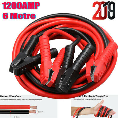 1200AMP Heavy Duty Battery Booster Cables 6 Metre Long Jump Leads Car Van Truck