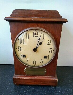 Antique American Waterbury Clock Company  Wooden Case Clock Working