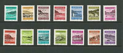 JERSEY 1982 HARBOURS POSTAGE DUE SET of 14 MNH
