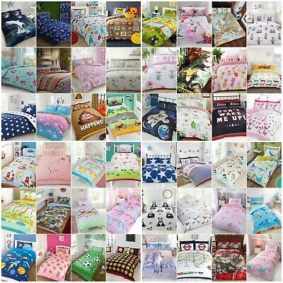 Children Kids Bedding Duvet Sets Quilt Cover Single Double Toddler Boys Girls