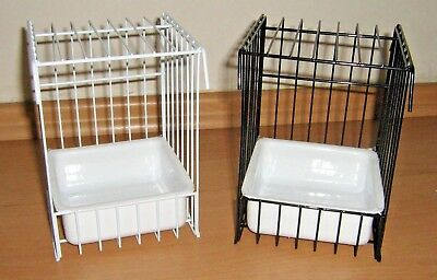 Canary Single Wire Bird Bath For Cage Or Aviary - Available In Black Or White