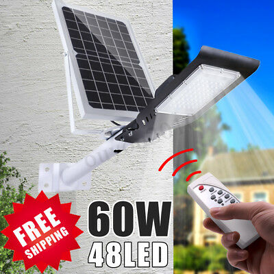 48LED 60W Solar Wall Street Light Outdoor Light Garden Lamp W/ Remote  ! o