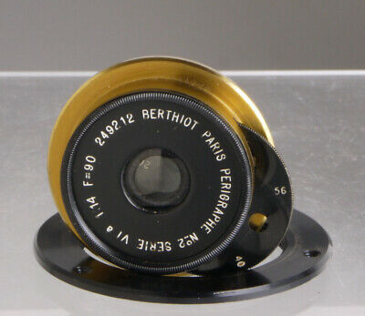 Berthiot Paris Perigraphe, wide angle lens for Wood & Brass Plate Field cameras_