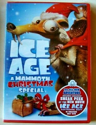 Ice Age A Mammoth Christmas.Ice Age A Mammoth Christmas Special New Dvd Never Opened