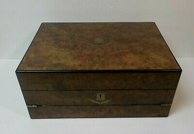 Gorgeous 19th C. Rosewood Travel Desk / Writing Slope, Restored Interior