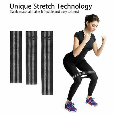 UK Fabric Resistance Bands Heavy Duty Booty Legs Squat Glute Hip Circle Non-Slip