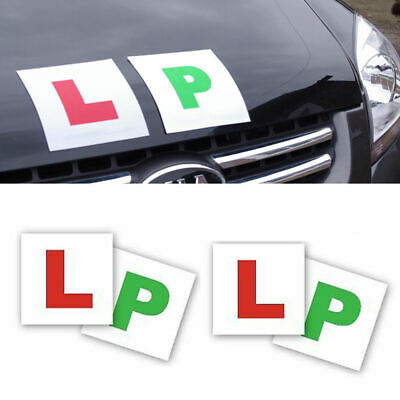 4 Pack Magnetic L & P Plates Learner Plates Green Passed Car Bike Learner Driver