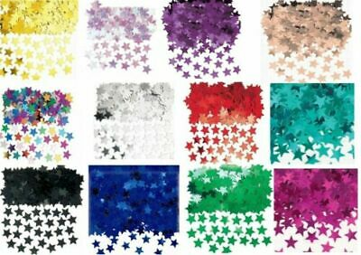 Metallic STARS CONFETTI Sprinkles Birthday Wedding Table Party