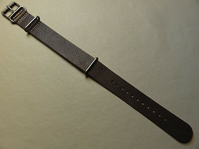 Easy ONE PIECE 20mm LONG Timex T2P854 Watch Band Dark Brown Leather Weekender