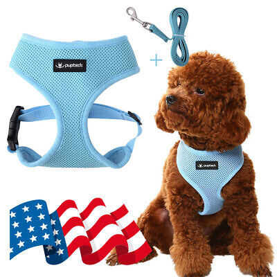 Adjustable Puppy Dog mesh Harness with Leash Vest Reflective Breathable No Pull