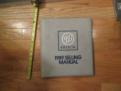 Buick 1989 car buyers guide Dealership dealer Sales book catalog #95