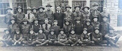 RARE / LARGE c1920 DANVILLE, KENTUCKY USA SCOUTS GROUP PHOTO.