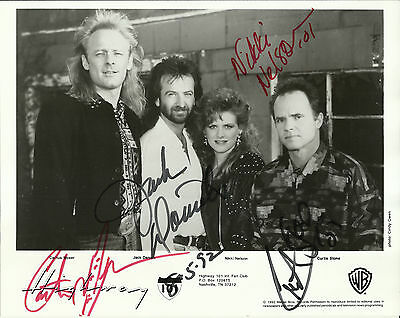 Highway 101 - Original Group Autographed 8x10 Warner Bros. Signed Promo Photo
