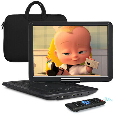 """19"""" Portable DVD Player with 16"""" Large Screen HDMI 1080P Memory Region Free USB"""