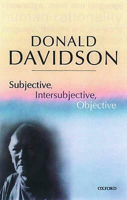 Subjective, Intersubjective, Objective: Philosophical Essays Volume 3 by Donald