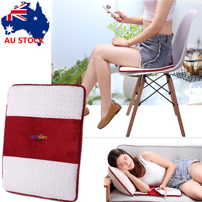 Safe Electric Heating Pad Heat Therapy Pain Relief Wrap Fast Heating Auto Off