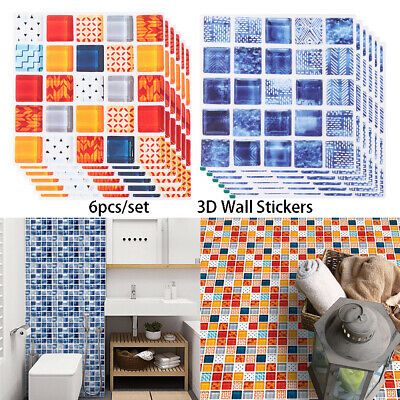 Kitchen Mural tile sticker Floor Tiles Diagonal Sticker Mosaic Wall Decals