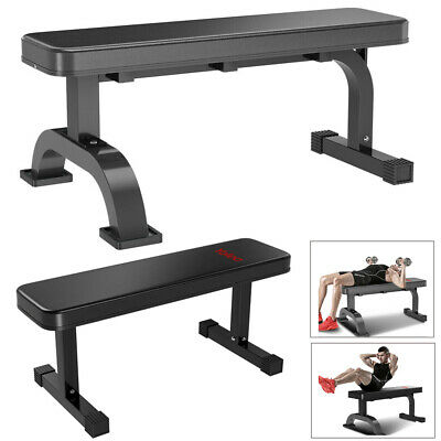 Flat Weight Bench Barbell Dumbbell Chest Press Lifting Sit Up Board Gym Home