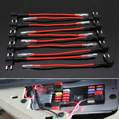 10x Add A Circuit Piggy Back Fuse Tap Standard Blade Fuse Holder ATM 15A ATO ACS