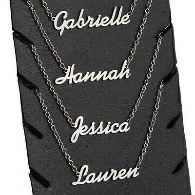 Personalized ANY NAME Custom Necklace Bracelet Nameplate Chain Stainless Steel