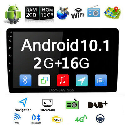 "10.1"" HD Android 9.1 Double 2 Din Car GPS Stereo Radio Player Wifi No DVD Player"