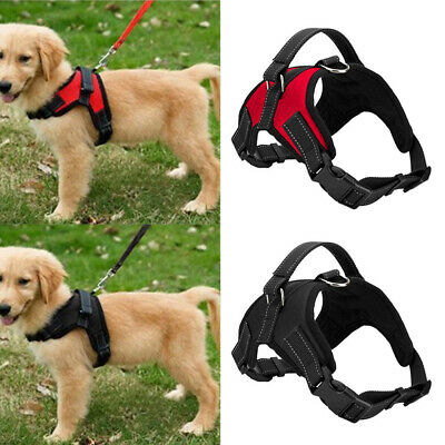 Reflective Service Dog Vest Harness Adjustable Removable Patches Large S-XL Hot