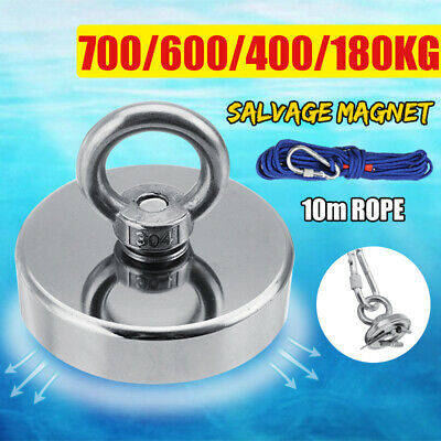 700KG Pull Salvage Strong Recovery Magnet Fishing Treasure Neodymium with Rope