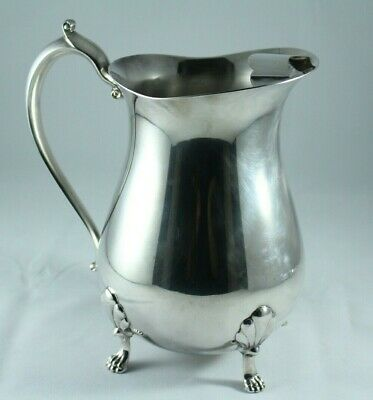 """BEAUTIFUL VINTAGE LEONARD SILVERPLATE FOOTED WATER PITCHER, 8 3/4"""" tall"""