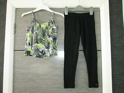 Girls Ted Baker Leggings & River Island Top Age 5-7 Yrs Vgc