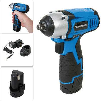 """Silverline 3/8"""" Drive 10.8V Lithium Li-Ion Cordless Rechargeable Impact Wrench"""