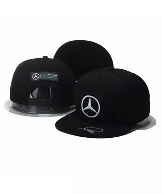 New MERCEDES BENZ Logo AMG F1 Lewis Hamilton Adjustable Unisex Snap Back Cap Hat