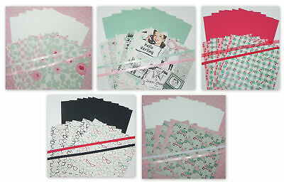 Hello Darling 5 Sets 6 X 6 Double Sided Designer Paper Cardstock Stampin Up